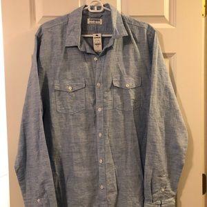 Express Shirts - NWT Express Men's Linen/Ctn LS Shirt